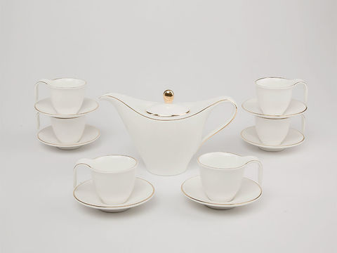 Bộ trà anh vũ chỉ vàng