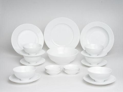 Bộ đồ ăn trắng 22 sản phẩm