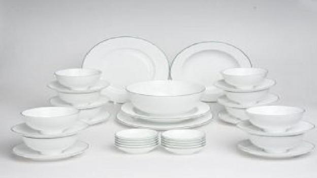 Bộ đồ ăn Minh Long Jasmine Xanh Chỉ 35 sản phẩm