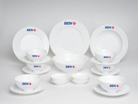 Bộ Đồ Ăn In Logo BIDV