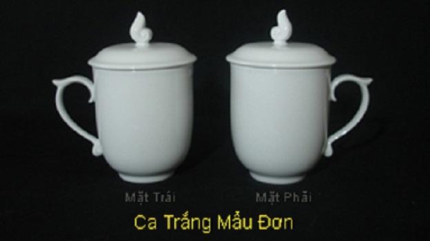 Ca Trà + Dĩa Lót Minh Long 0.3 L Sen Trắng