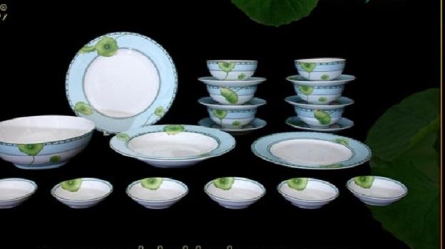 Bộ Đồ Ăn Minh Long Jasmine Tích Tuyết Thảo 22 Sản Phẩm