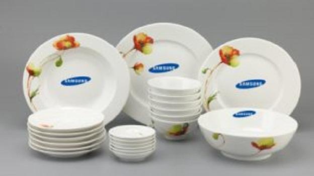 Bộ Đồ Ăn Minh Long Jasmine Anh Túc 22 Sp Giá In Logo Samsung
