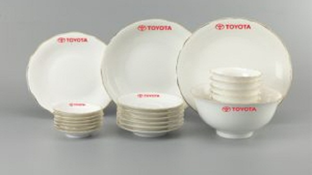 Bộ Đồ Ăn Minh Long Mẫu Đơn Chỉ Vàng 23 Sp Giá In Logo Toyota