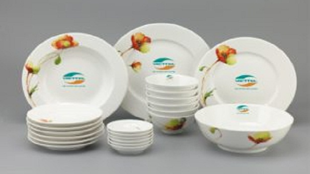Bộ Đồ Ăn Minh Long Jasmine Anh Túc 22 SP Giá In Logo Viettel