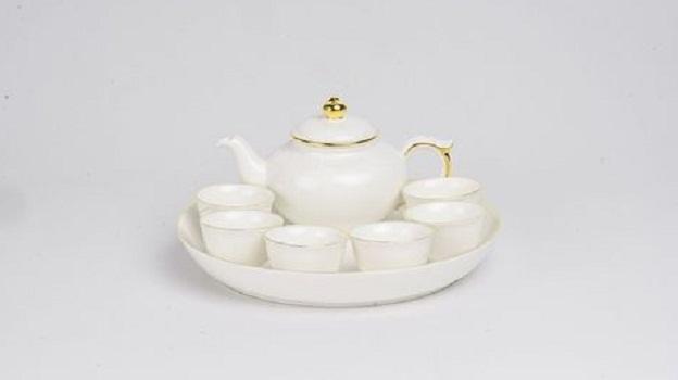 Bộ trà Minh Long 0.35L Jasmine IFP Chỉ Vàng
