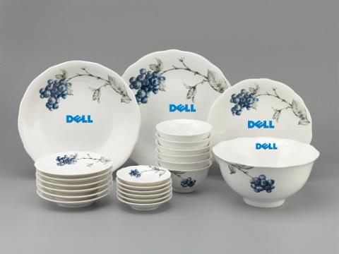 Bộ Đồ Ăn In Logo Dell