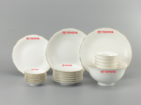 Bộ Đồ Ăn In Logo Toyota