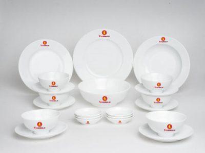 Bộ Đồ Ăn In Logo Vingroup