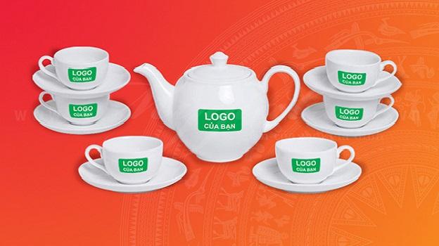Bộ ấm trà Minh Long in logo- Món quà ý nghĩa để lưu niệm