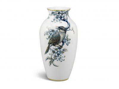 bình hoa - bản đặc biệt, Bình hoa 27 cm - Họa Mi và Hoa Bưởi - Cobalt Vàng