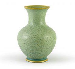 Bình Hoa Minh Long - Vân Ngọc Matte Chỉ Vàng 22cm