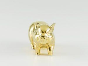 Heo Minh Long Tài Lộc 9cm – Dát Vàng