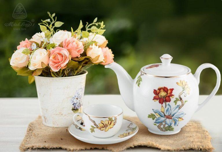 gốm sứ cao cấp, ấm sứ, bình trà gốm sứ