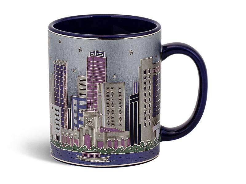 ly sứ, ca trà, cốc sứ minh long, Ca bia 0.36 L - TP.Hồ Chí Minh - Cobalt Vàng
