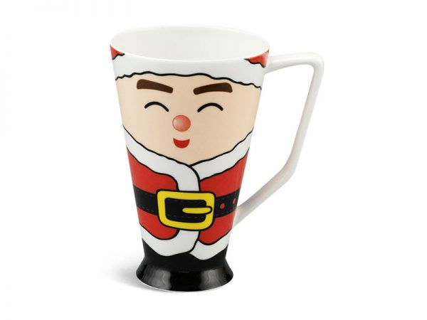 ly sứ, ca trà, cốc sứ minh long, Ca mỏng 0.5 L - Bà Noel