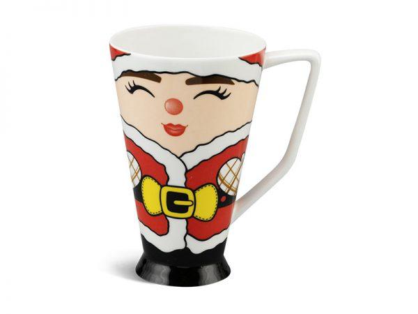 ly sứ, ca trà, cốc sứ minh long, Ca mỏng 0.5 L - Mẹ Noel