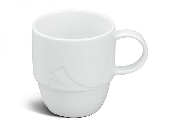 ly sứ, ca trà, cốc sứ minh long, Ca trà 0.25 L - Loa Kèn - Trắng