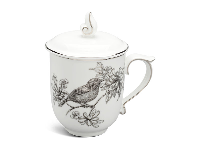 ly sứ, ca trà, cốc sứ minh long, Ca trà 0.30 L - Mẫu Đơn IFP - Chích Bông