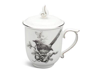 ly sứ, ca trà, cốc sứ minh long, Ca trà 0.30 L - Mẫu Đơn IFP - Chích Chòe