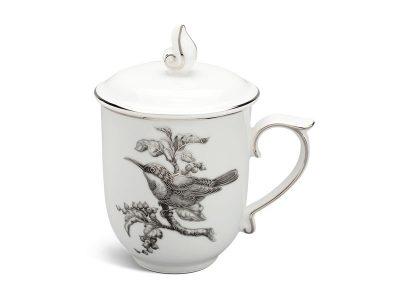 ly sứ, ca trà, cốc sứ minh long, Ca trà 0.30 L - Mẫu Đơn IFP - Chim Hút Mật