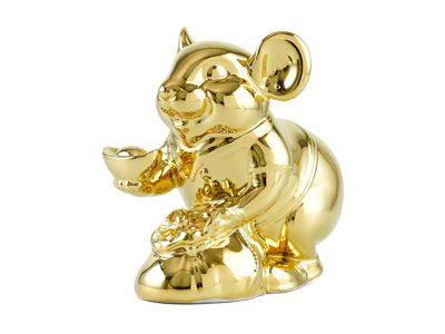 Chuột Phú 13 cm – Trang trí dát vàng 24K