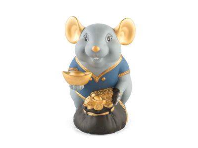 Chuột Phú 13 cm (màu Matt) - Xanh dương - Họa tiết trang trí