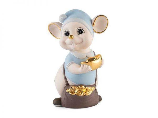 Chuột Quý 16 cm (màu Matt) - Xanh dương - Họa tiết trang trí