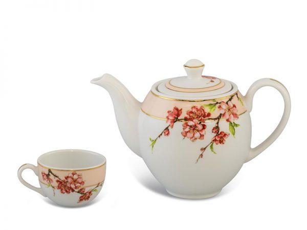 Bộ trà Camelia Hoa Đào Minh Long 0.8L