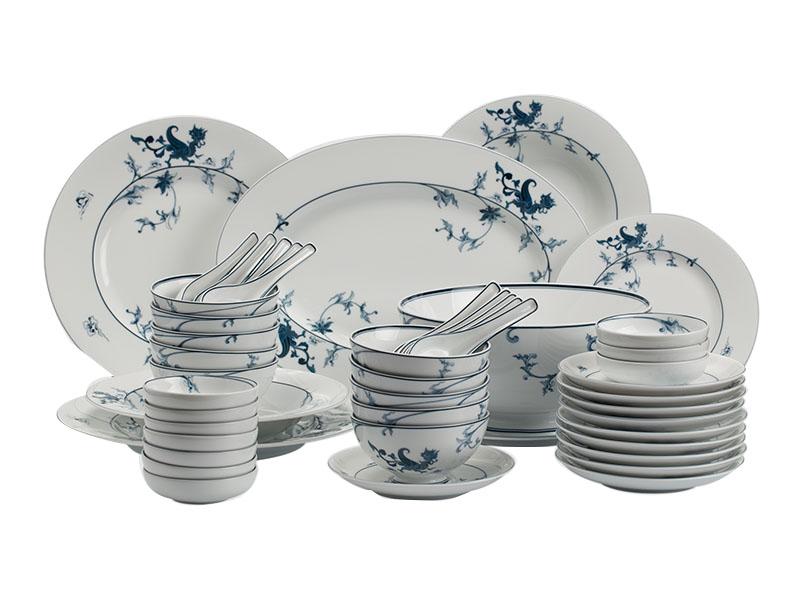 Bộ đồ ăn 10 người 48 sản phẩm - Hoàng Cung - Lạc Hồng