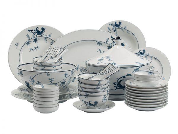 Bộ đồ ăn 10 người 49 sản phẩm - Hoàng Cung - Lạc Hồng