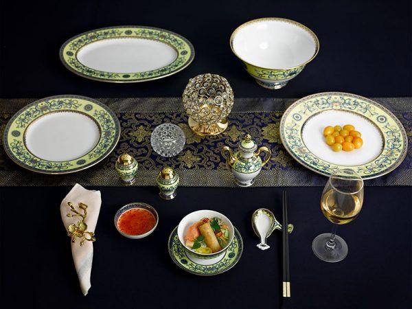 Bộ đồ ăn 6 người Á 40 sản phẩm - Hoàng Cung - Hoàng Liên