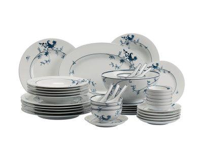 Bộ đồ ăn Âu-Á 44 sản phẩm - Hoàng Cung - Lạc Hồng