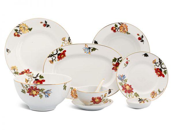 Bộ đồ ăn Âu - Á 45 sản phẩm - Camellia - Cát Tường