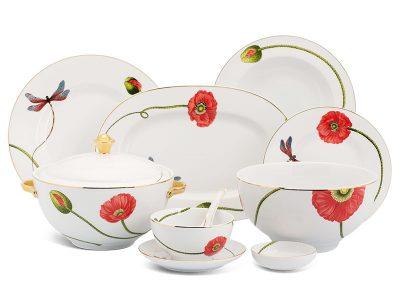Bộ đồ ăn Âu-Á 45 sản phẩm - Camellia - Kết Duyên