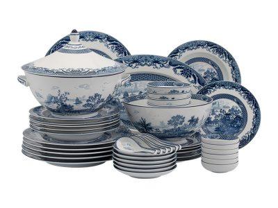 Bộ đồ ăn Âu-Á 45 sản phẩm - Hoàng Cung - Hồn Việt