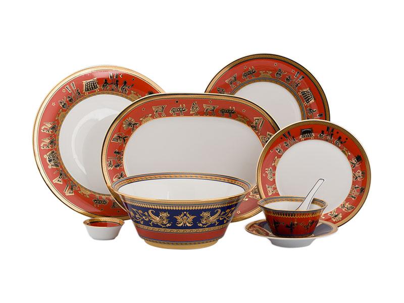 Bộ đồ ăn Âu-Á 45 sản phẩm - Tulip Trắng - Trống Đồng 3
