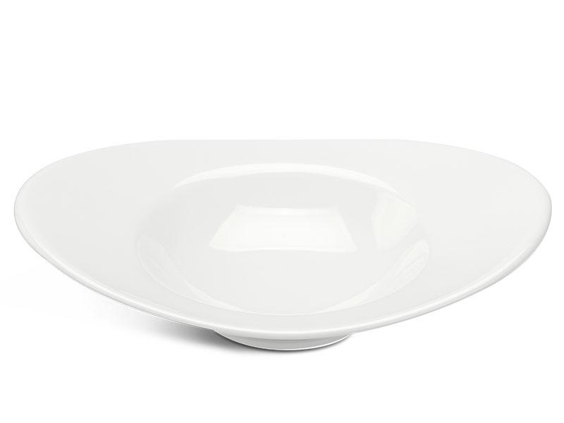 Chén oval vành 17 cm - Anh Vũ Lys - Trắng Ngà