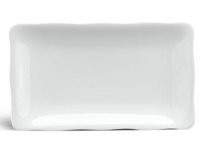 Dĩa chữ nhật 22 x 13 cm - Mẫu Đơn IFP - Trắng Ngà