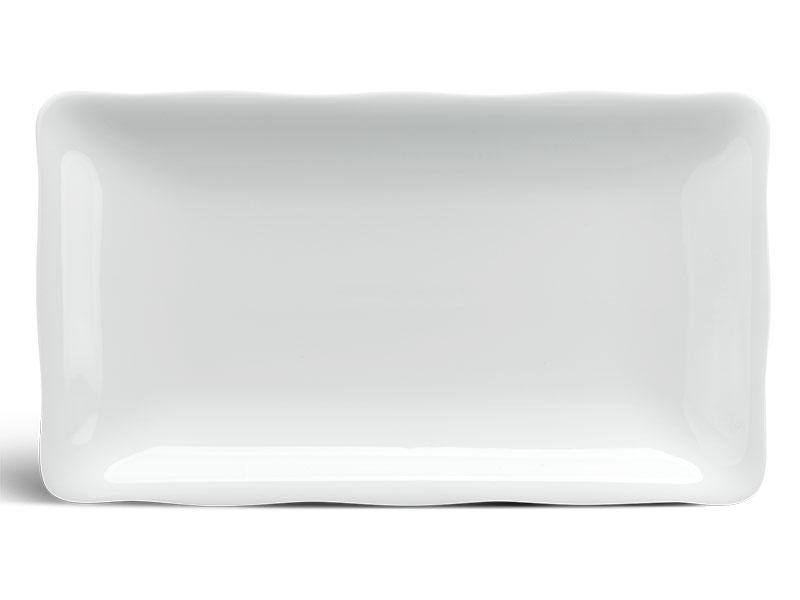 Dĩa chữ nhật 25 x 17 cm - Mẫu Đơn IFP - Trắng Ngà