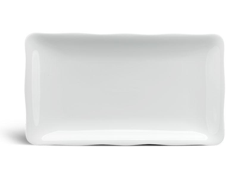 Dĩa chữ nhật 30 x 17 cm - Mẫu Đơn IFP - Trắng Ngà