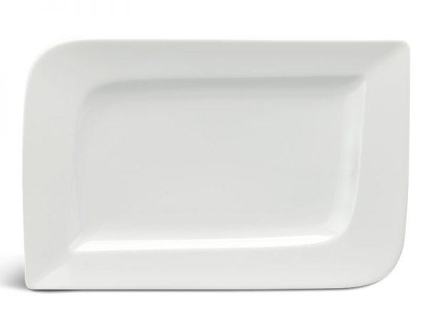Dĩa chữ nhật 33 x 23 cm - Anh Vũ Ly's - Trắng Ngà