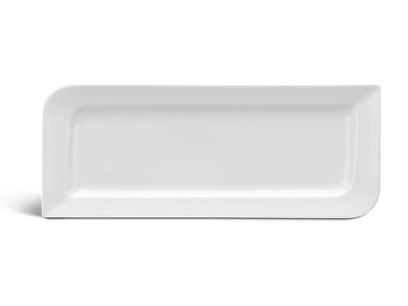 Dĩa chữ nhật dài 39 x 15 cm - Anh Vũ Lys - Trắng Ngà