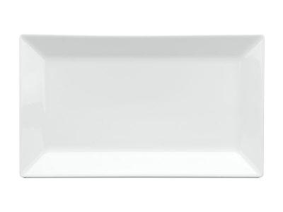 Dĩa chữ nhật lá 22 x 13 cm - Daisy - Trắng