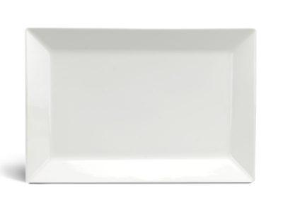 Dĩa chữ nhật lá 25 x 17 cm - Daisy Ly's - Trắng Ngà