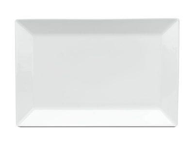 Dĩa chữ nhật lá 25 x 17 cm - Daisy - Trắng
