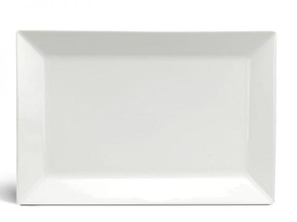 Dĩa chữ nhật lá 30 x 17 cm - Daisy Ly's - Trắng Ngà