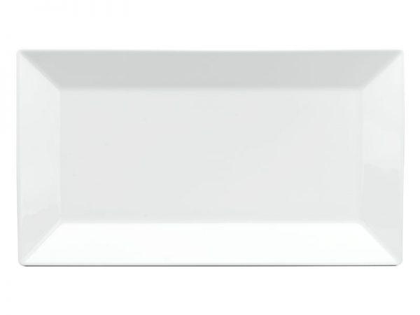 Dĩa chữ nhật lá 30 x 17 cm - Daisy - Trắng