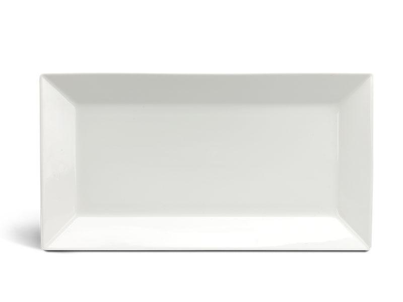 Dĩa chữ nhật lá 33 x 18 cm - Daisy Ly's - Trắng Ngà
