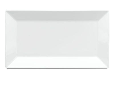Dĩa chữ nhật lá 33 x 18 cm - Daisy - Trắng